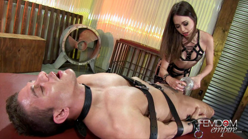 Femdom and Strapon Swell in your Cage. Starring Riley Reid