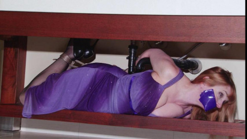 bdsm Bound and Gagged - Rich Bitch Hogtied Topless in her Evening Gown - Lorelei
