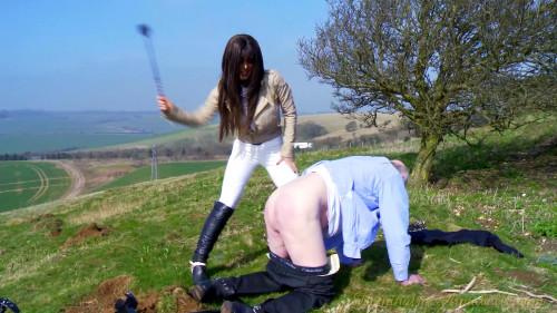 Femdom and Strapon pony play