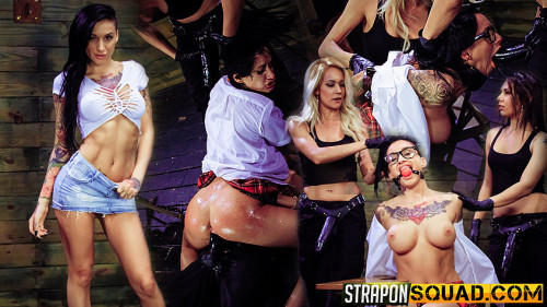 bdsm Naughty Schoolgirl Alby Rydes is Punished by Mila Blaze and Isa Mendez (2016)