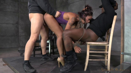 bdsm Sexy Skin Diamond gets bound, fucked, stuffed full of cock and brutally deepthroated