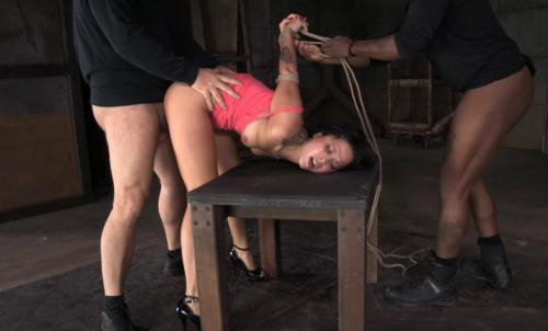 bdsm Bound newbie Mia Austin roughly fucked
