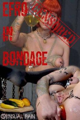 Fisting and Dildo Efro in bondage censored