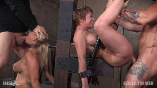 bdsm Angel and Dee tied back