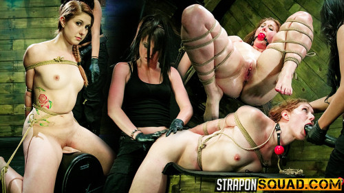 Femdom and Strapon Brooklyn Daniels and Lexy Villa Tie Rose Red to the Sybian