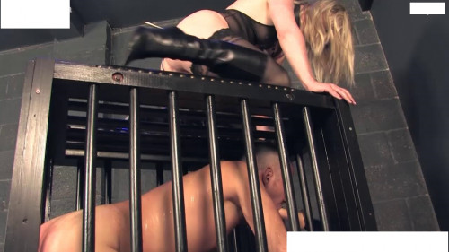 Femdom and Strapon Adventure in the basement with a wicked dominant bitch