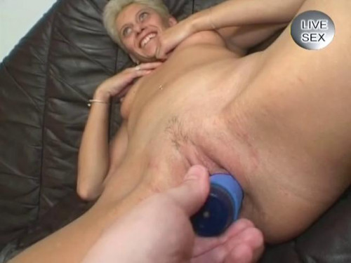 Fisting and Dildo Sexual hangover of blonde mom