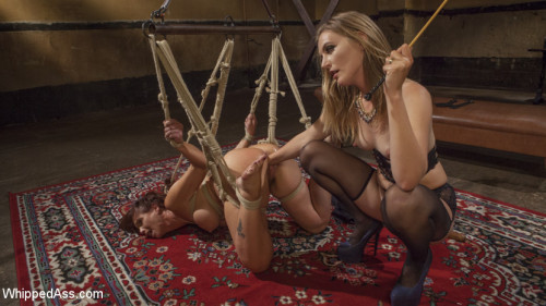 bdsm Pervert Therapy Horny MILF bound, fisted and anally strap-on fucked