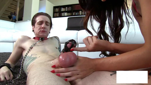 Femdom and Strapon Chastity Cum Teasers