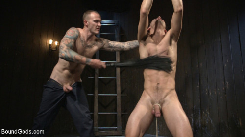 Gay BDSM Hesitant Stud Transformed into Mr Wildes Bondage Slut