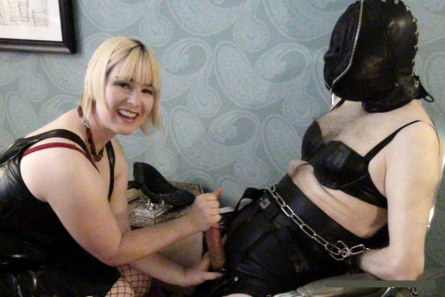 Femdom and Strapon Extreme Spiked Bondage - Footjob Chastity Release - Kali Teeth