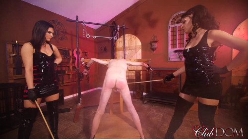 Femdom and Strapon Msr. Isobel Devi and Veronica - Snow Caning