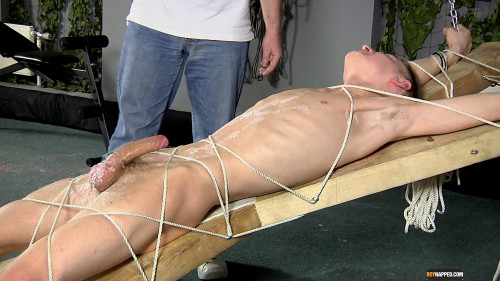 Gay BDSM Reece Gets His Balls Drained