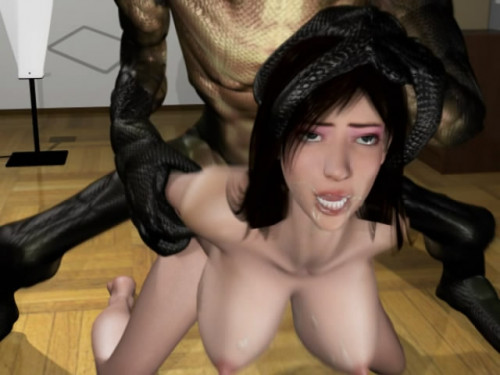 Horrifying snake man fucked beautiful wife 3D Porno