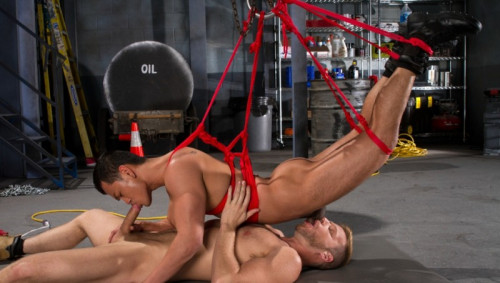 Gay BDSM Bondage Garage - Brian Bonds and Eli Lewis