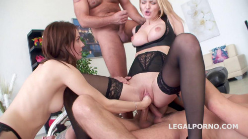 Fisting and Dildo Double Anal Battle Belle Claire And Timea Bella getting 2 cocks ass Gapes Fist 720p (2016)