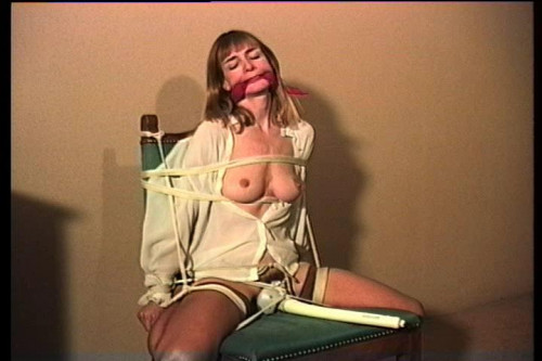 bdsm Bound and Gagged - Bondage Girlfriend - Scene 7 - Vibrator Chair Tie for Lorelei