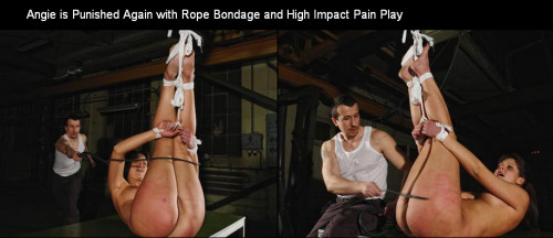 bdsm Brutalpunishments - Oct 23, 2014 - Angie is Punished Again with Rope Bondage