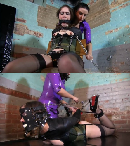 bdsm Super bondage, suspension, torture and hogtie for young bitch