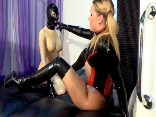 bdsm Mistress played with her slave in latex part two
