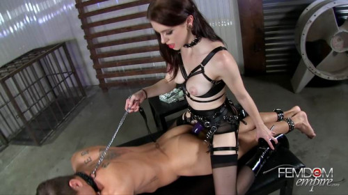 Femdom and Strapon Anna Deville - Stretching his boyhole