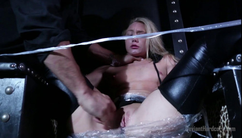 bdsm AJ Applegate saran wrapped and fucked