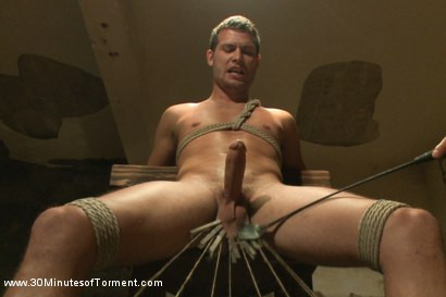 Gay BDSM Hayden Richards vs The Chair and The Chair Won