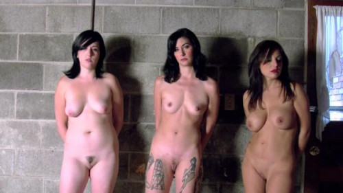 Three Girl Naked Chain Gang BDSM