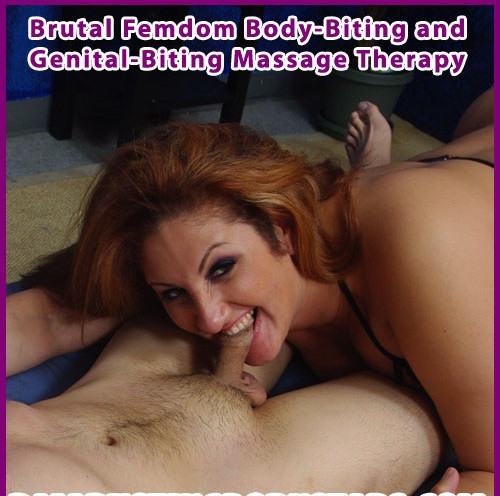 Femdom and Strapon Ballbustingpornstars - Brutal Cock-and-Ball-Biting Massage Therapy with Sonia Blaze