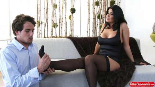Femdom and Strapon Mrs. Debt Collector