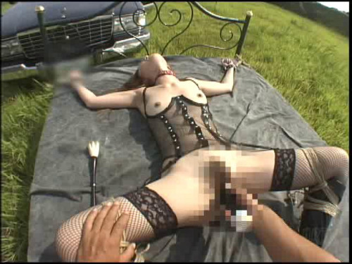 Love shyness guy outdoors BDSM