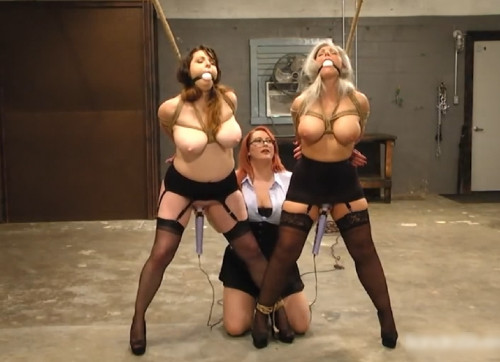 bdsm Bondage, strappado, torture and sex-games for three hot girls