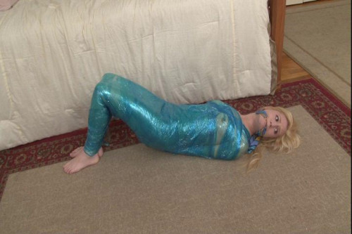 bdsm Bound and Gagged - Mummification - Odette in Kitchen Wrap and Duct Tape