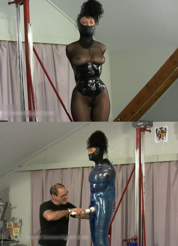 bdsm Hard bondage, mummification and torture for a sexy model