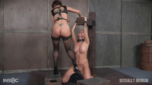 bdsm Unbelievably Hot Madelyn Monroe Bound To Sybian and Used By Couple (2016)