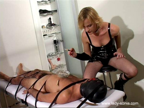 Femdom and Strapon TS Lady Sonia and TS Rebecca - Hooded and Interrogated