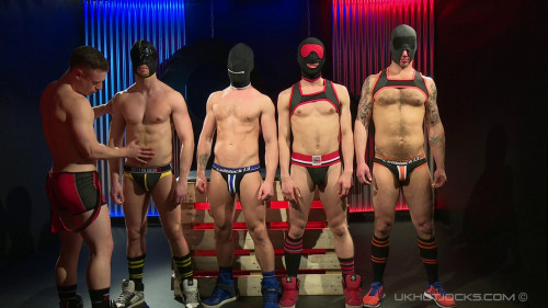 Gay BDSM Hard Gear Hooded Scene 4