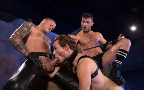Gay BDSM Lance Hart, Micky Mackenzie and Max Cameron