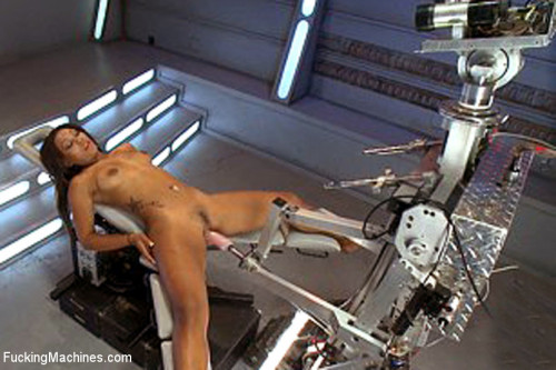 There's a Girl on the End of That Robot Cock and She's Cumming Sex Machines