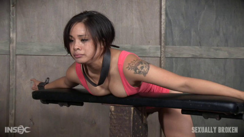 bdsm Sexy Asian Milcah Halili bound brutally fucked from both ends squirting orgasm Part One (2016)