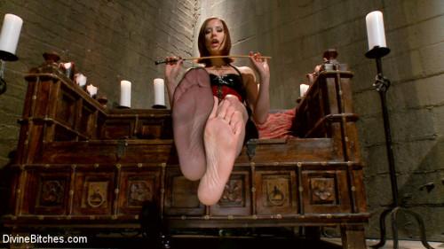 Maitresse Madeline's POV foot fetish teaser BONUS! Femdom and Strapon