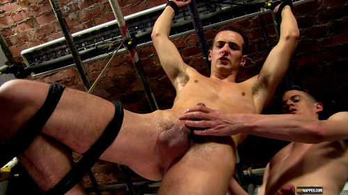 Gay BDSM Hung Luke Wanked And Fucked