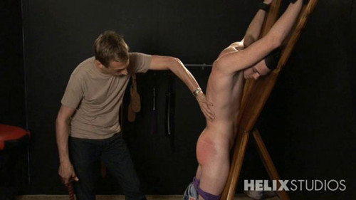 Gay BDSM Marco Spanked in the Garage