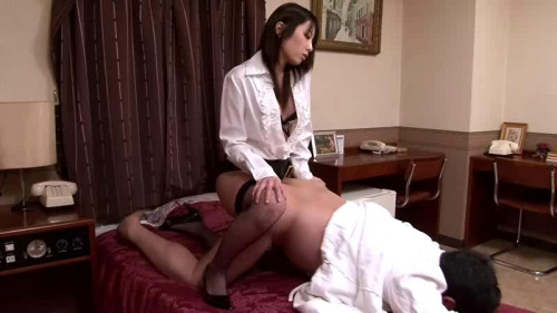Femdom and Strapon Anal infiltration of woman spy