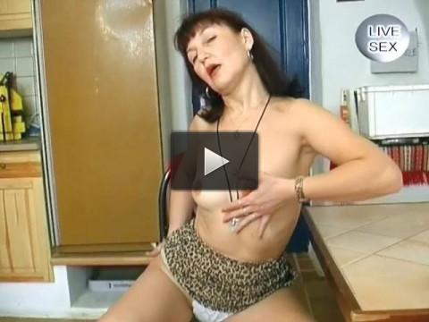 Mature woman stripping