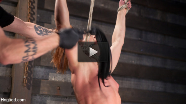 Fiery Red Head in Bondage, Tormented and Cumming like a Whore