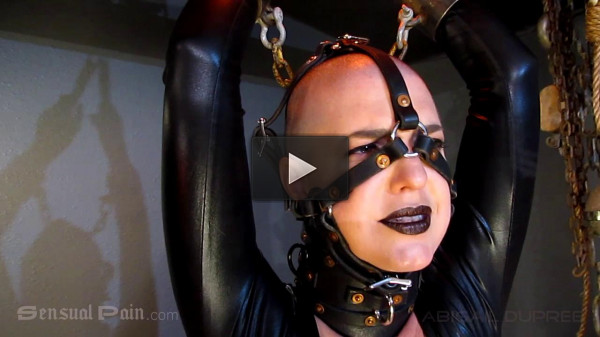 Sensualpain — Jun 13, 2016 - Black Lipstick in Catsuit and Ballerina Heel Trainers — Abigail Dupree
