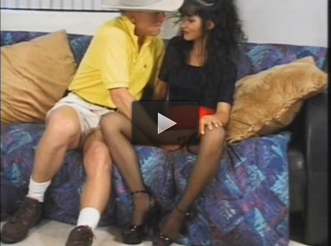 Old stud pissing on young girls at home