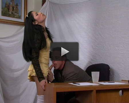 Tranny sex in office