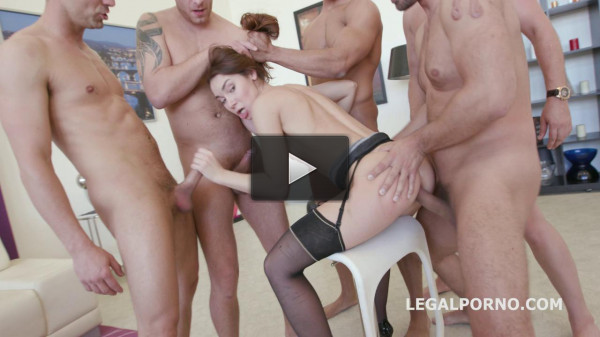 Little Slut In Rough Gangbang With DP & DAP